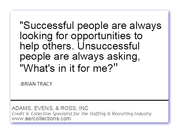 Quotes Successful People Are Always Looking For Opportunities To - Collection specialist
